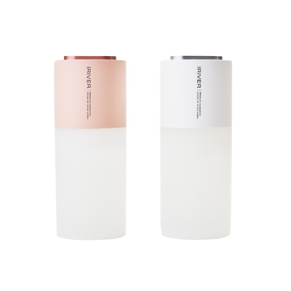 아이리버 듀얼 UV-LED 살균 휴대용 무선 미니가습기 IHM-H7, 화이트
