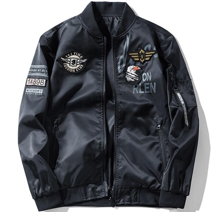 위드에이 남자 봄 가을 자켓 양면 항공점퍼 바람막이 블루종 WAH077-D