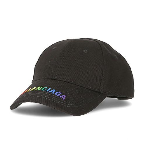 [발렌시아가] 564206 310B2 1000 레인보우 로고 모자