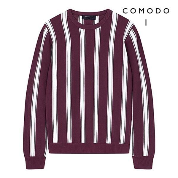 COMODO 코모도 세로 스트라이프 패턴 니트