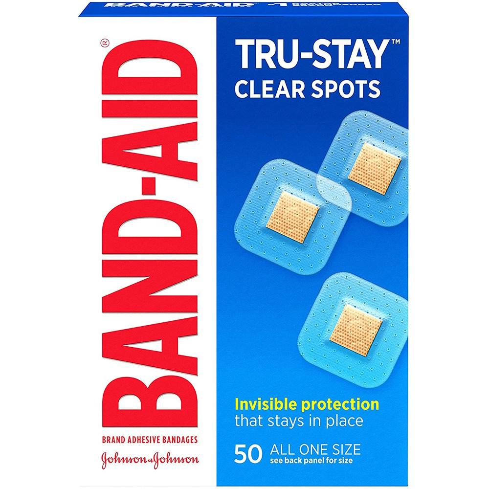 밴드에이드 트루-스테이 클리어 스포츠 상처밴드 4팩 (POP 4717541645)