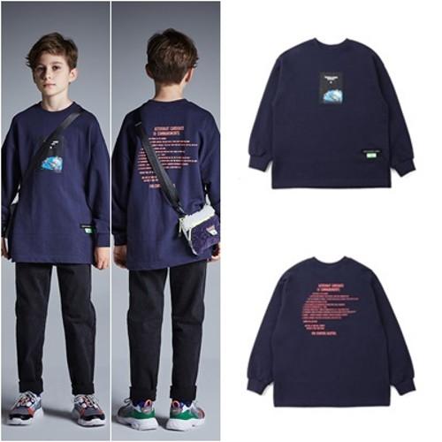 [블루테일]우주비행 다크 네이비 티셔츠 AUG3TS08DN