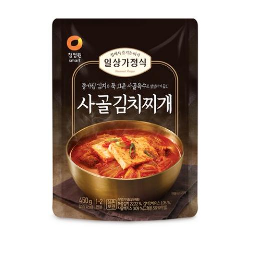 청정원 일상가정식 사골 김치찌개, 450g, 20개