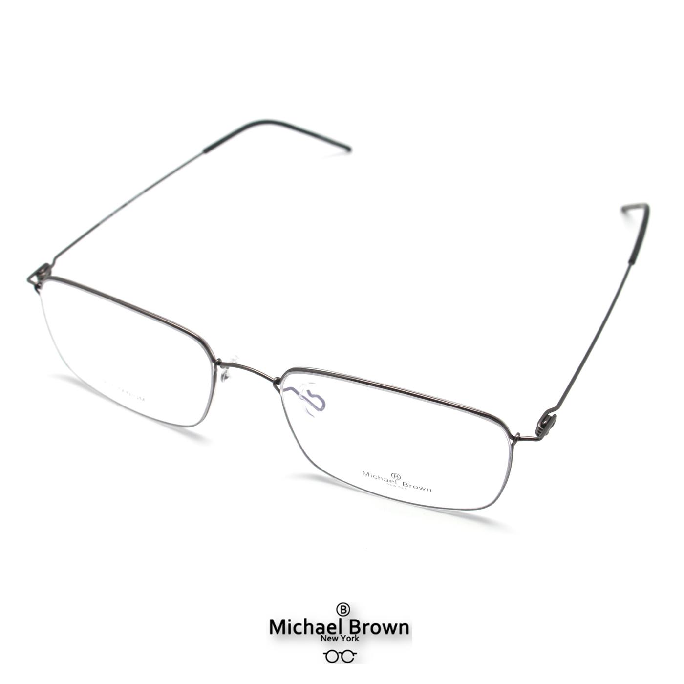 마이클브라운 베타티타늄 오버사이즈 가벼운 안경테 빅사이즈 사각형 실테 M1006