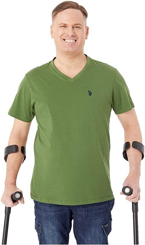 [미국]남성 티셔츠 폴로 V 넥 티 포레스트