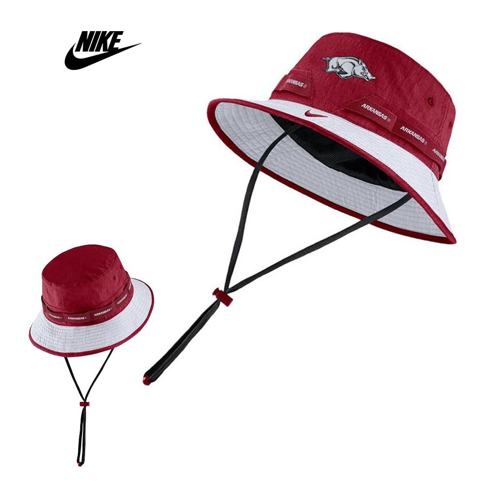 나이키 Arkansas Razorbacks 사이드 라인 버킷햇 모자