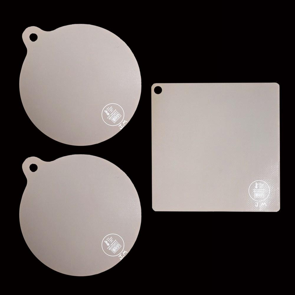 JM 인덕션매트 3개 원형 사각 인덕션보호매트, 원형2개+정사각형1개
