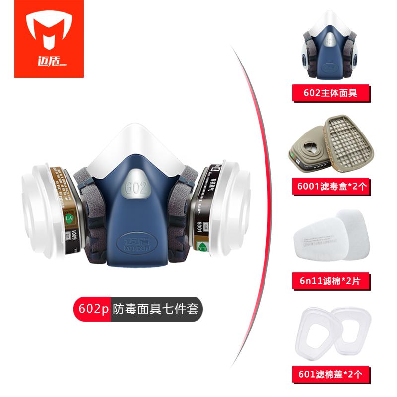 Maidun 가스 마스크 Kn95 방독면 페인트 용 먼지, 표준 버전 (1 세트)