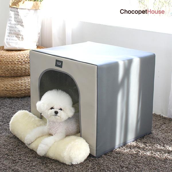 초코펫하우스 향균 사계절 보온 보냉 강아지집 단열 하우스 그레이
