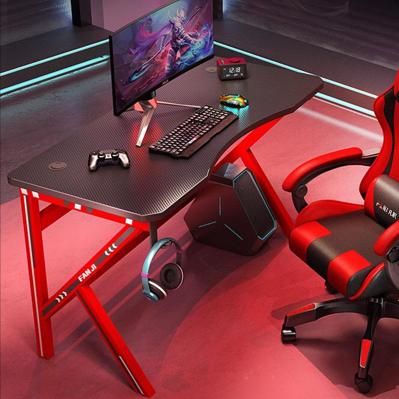 1인용 2인용 조립식 원룸 게이밍책상 컴퓨터 PC방 ㄱ자 책상겸테이블 책상 레드 800 1600