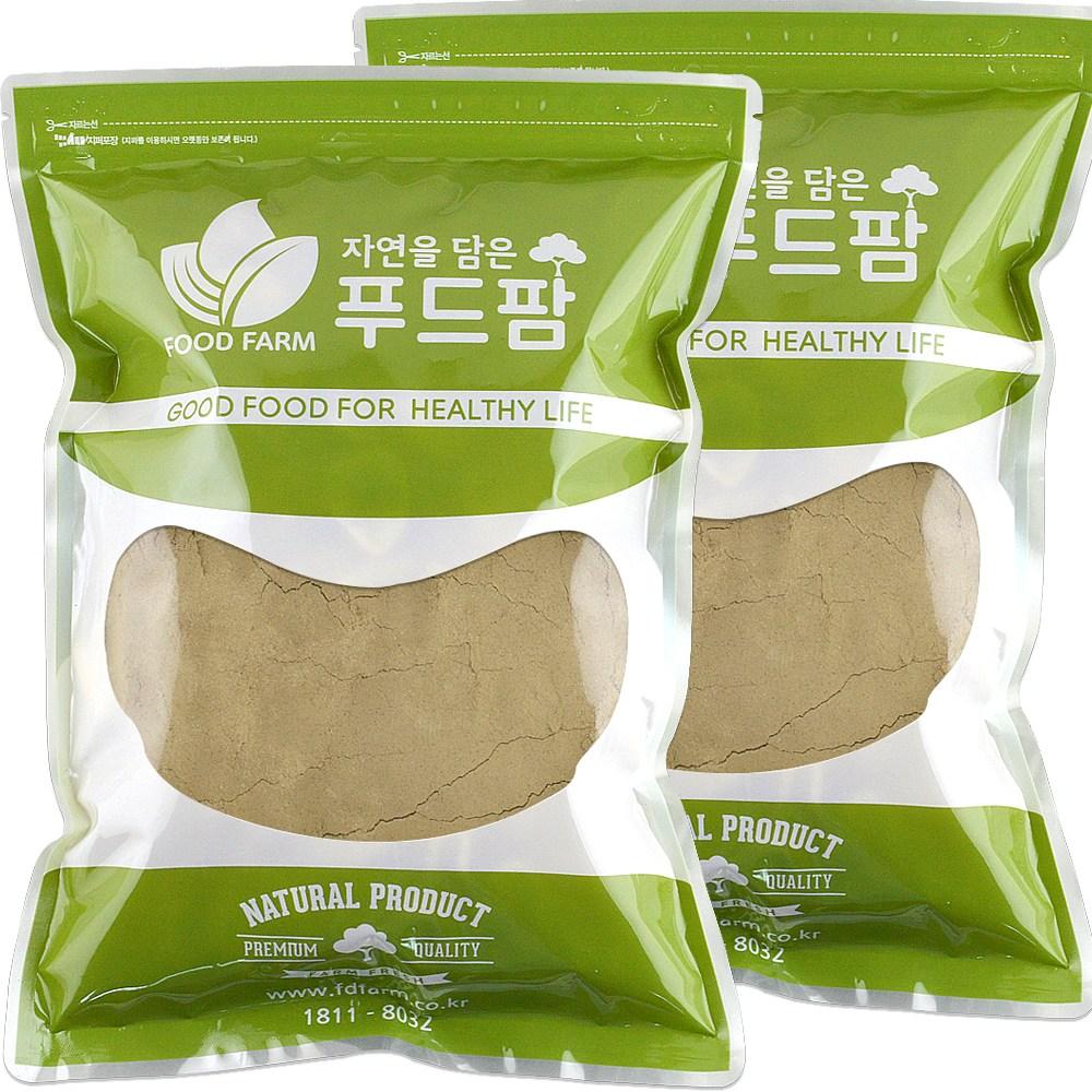 차전자피 100% 분말 1kg (500g+500g) 질경이 씨앗 껍질가루, 2팩, 500g