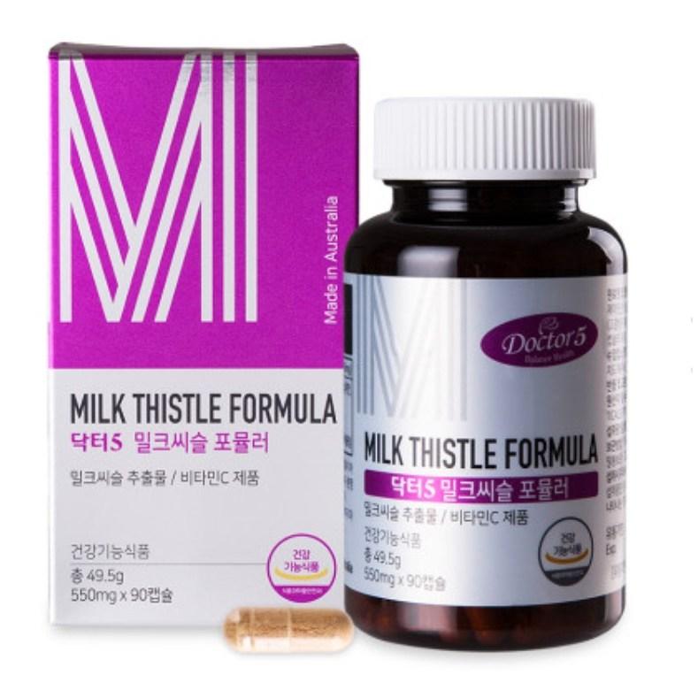 [호주 밀크씨슬] [간건강] 호주산 닥터5 밀크씨슬 (3개월분) Milk thistle formula - 랭킹1위 (36980원)