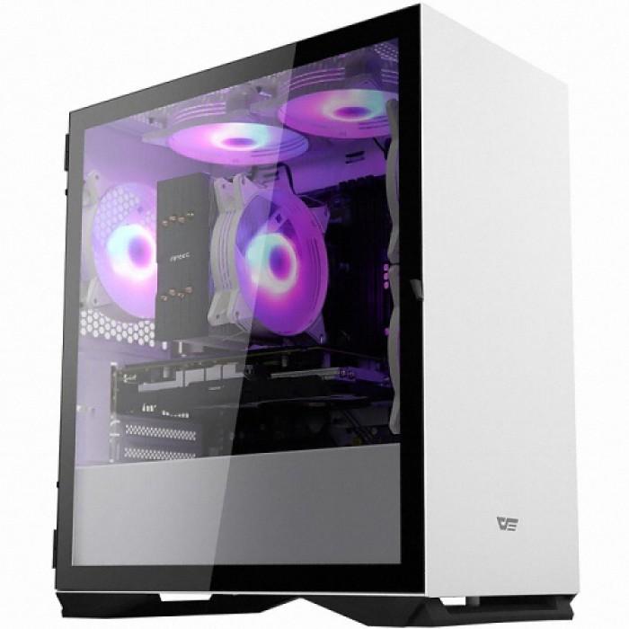 2WAY Darkflash DLM22 RGB 강화유리 화이트 PC케이스, DLM22 화이트