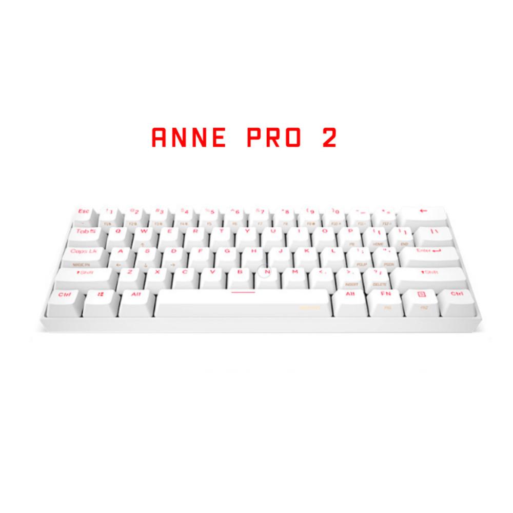 앤프로 Anne Pro2 앤프로2 블루투스 기계식 키보드 게이트론 카일 체리 무선키보드, 화이트, 카일-적축