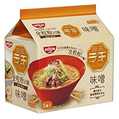 SET OF 1 Nissin - Raoh Japanese Instant Ramen Noodles Miso 17.1oz (For 5 Bowls)