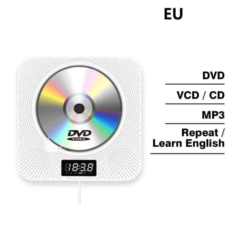 BT 벽 마운트 DVD CD 플레이어 블루투스 원격 제어 스테레오 FM 라디오 HiFi 음악 내장 스피커 TV 홈 CD Boombox, 협력사, 유럽 연합 (POP 5466560693)