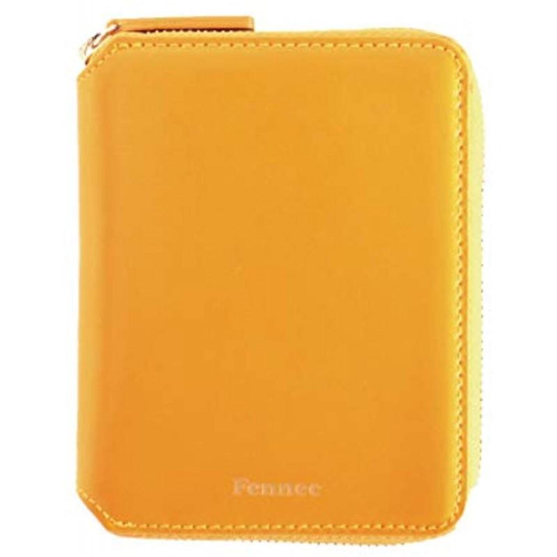 Fennec Zipper Wallet 2 사막 여우 지갑 여성 가죽 컴팩트 지갑 한국 패션 [Fennec Official] (만다린)