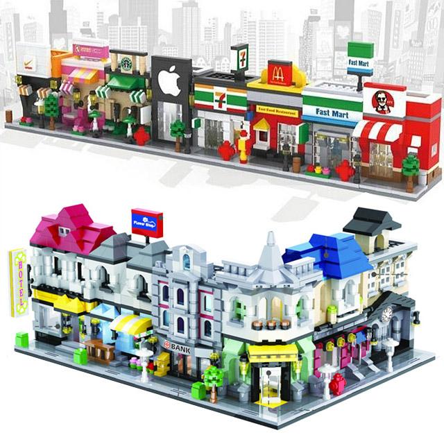 나노블럭 레고호환블럭 호한레고 중국레고 중국블럭 모듈러 건축물 매장 시리즈, HS6413 OK편의점