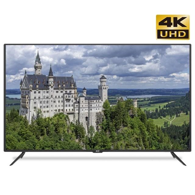 에이스글로벌 58인치UHD TV 4K 대형티비 대기업패널 고화질 방문 스탠드 무료설치, 와이드뷰 58인치TV 제품만 받기