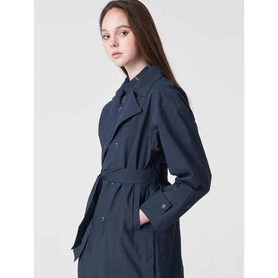 빈폴스포츠 네이비 여성 방수 트렌치 재킷 (BO9139C12R)