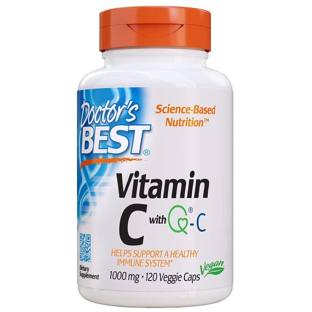 Doctors Best Vitamin C with Quali-C 1000mg 120 ct 임산부엘레비트 얼라이브원스데일리포맨 닥터베스트멀티비타민 솔가프리네이탈 30대남자영양제, 1개, 1