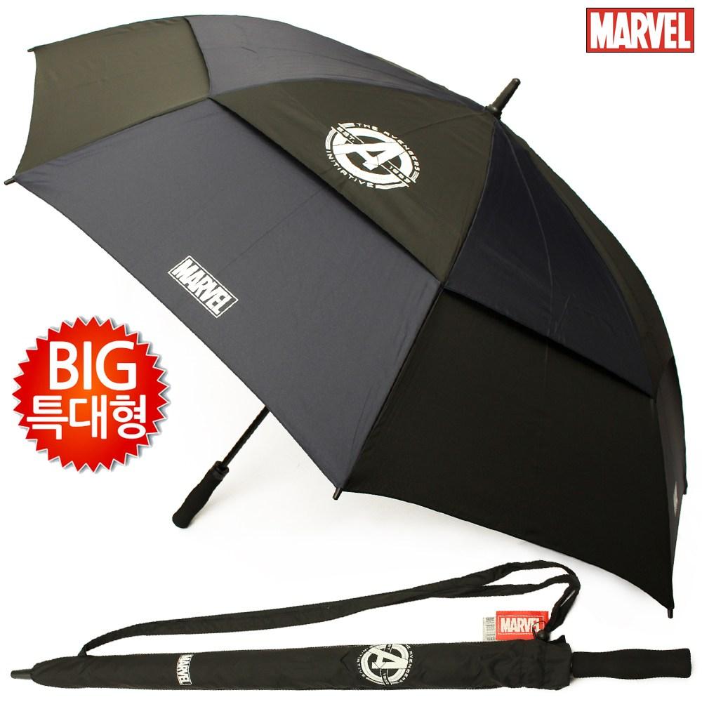 마블 초대형 빅사이즈 방풍 골프 의전용 자동 장우산 [방풍멜빵] (80x8K)
