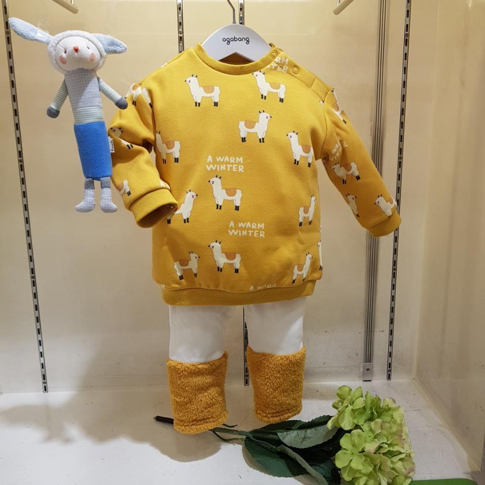 아가방 30% 겨울 베이비페어 폭신 빠방한 융기모 맨투맨+기모레깅스! 따뜻해보여 알파카 뿅뿅뿅 티셧! 귀욥도다 따뜻하도다 상하셋뜌!