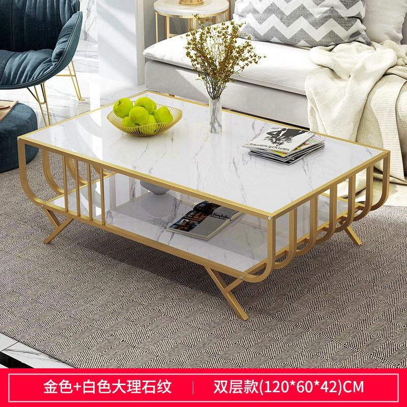 대리석테이블 거실 티테이블 인테리어 가정용 탁자 좌탁 트랜스포머_145, 1. 설치 방법: 어셈블리, 색상 분류: 섹션 120CM 흰색 질감 골드 프레임