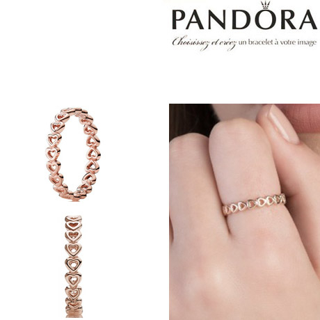 판도라 반지 180177 PANDORA Rose Linked Love Ring