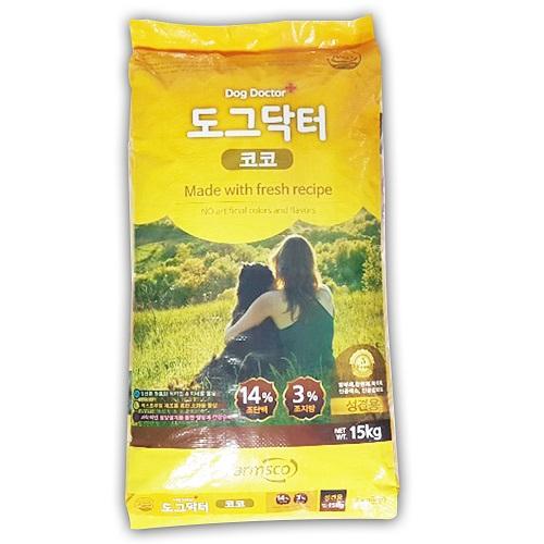 도그닥터 팜스코 코코15kg 성견 대형견 대용량 개사료 1개 성견사료, 15kg