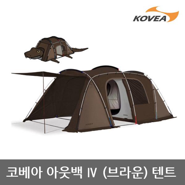 OP 코베아 아웃백 4 텐트 BR(브라운) KECV9TO-07, 단일상품/단일상품