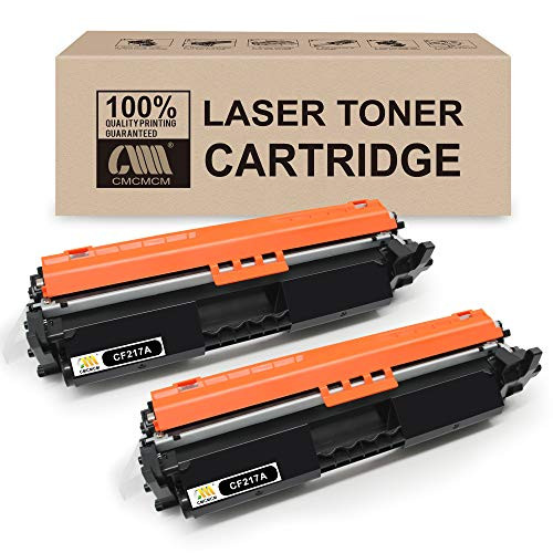 CMCMCM 2PK Compatible Toner Cartridge Replacements for HP 17A CF217A Work with Laserjet Pro MFP M102w M130nw M130fn M130fw M102a M130a M102 M130, 본문참고