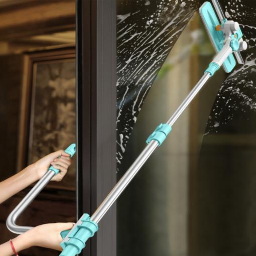 아침하늘 창문 청소 밀대 유리창닦는법 아파트 외부 유리 바깥 베란다 이중 양문 닦기 닦이, 1개