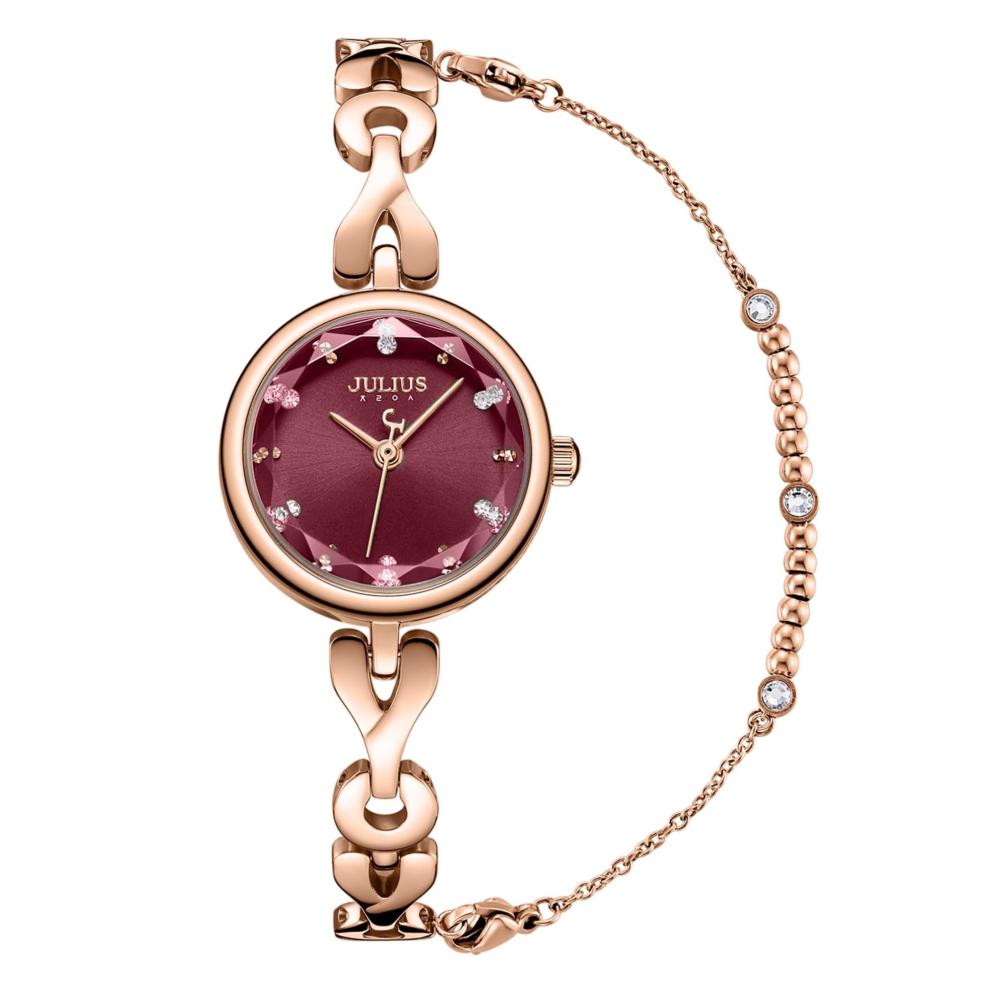 슈럭스 [쥴리어스 정품] 진세연 시계 크리미 여성 큐빅 메탈 팔찌시계 JA-1175