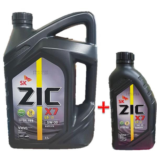 ZIC X7 LS 5W30 6L 1개 +1L 디젤 엔진오일, ★지크 X7 LS 5W30 6L 1개+1L★1개★