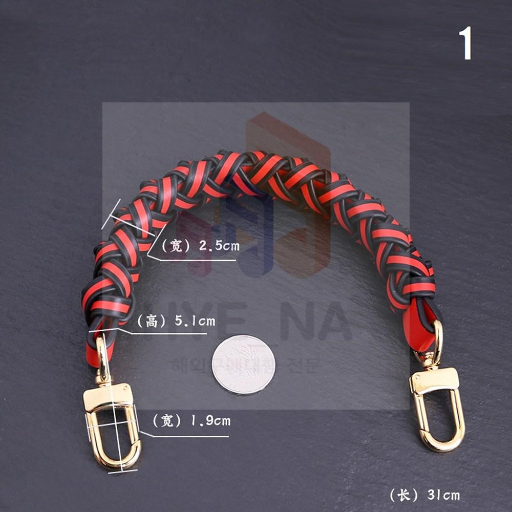 가방 숏 스트랩 명품 탑핸들 숏핸들 꽈배기 핸드스트랩 짧은 끈 수제 로프 가죽 고급