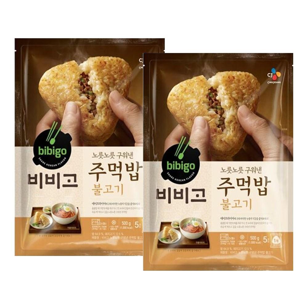 (냉동)비비고 구워낸주먹밥불고기500gx2개, 1세트
