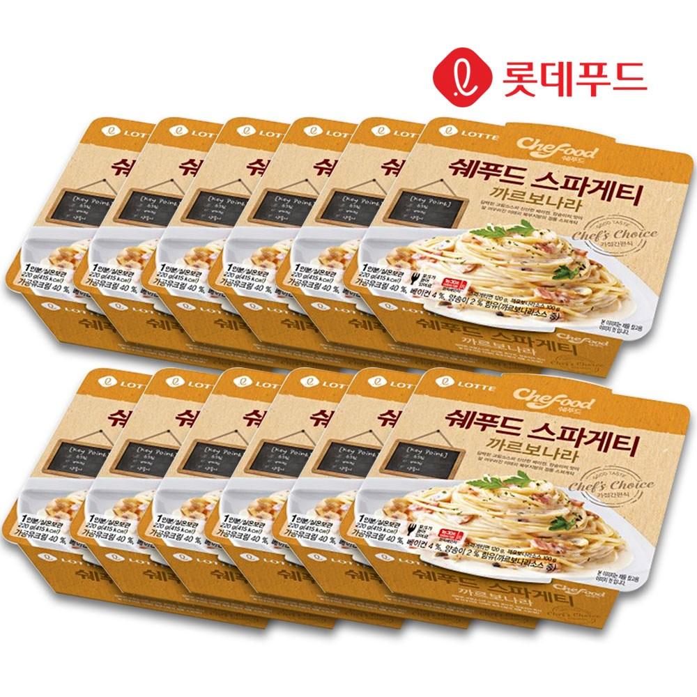 롯데 쉐푸드 스파게티 까르보나라 220g 12개, 단품