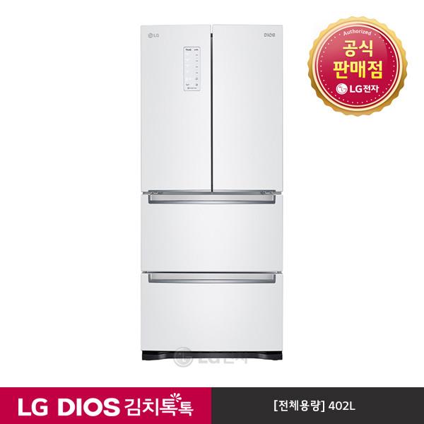 [LG전자] & DIOS 김치톡톡 김치냉장고 K410W14E (화이트/402L), 상세 설명 참조