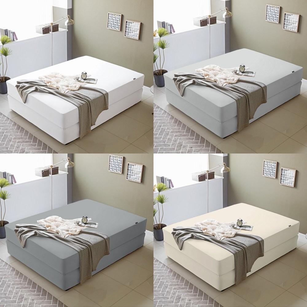 파미지오 스타일플러스 방수 침대 매트리스커버, 1)화이트