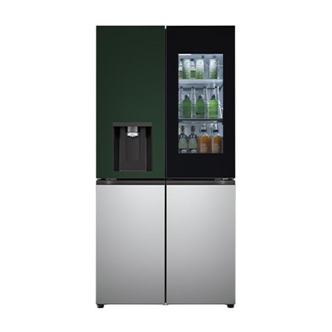 LG전자 W821AAA453 오브제컬렉션 조합형 얼음정수기 냉장고 820리터 도어포함, 네이처(메탈) 블랙/그레이/화이트