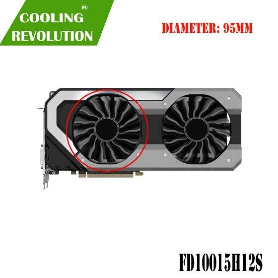 95MM GAA8S2U FD10015H12S 팬 GTX1080T GTX1080 GPU 카드 쿨러 Palit GTX 1080 Ti 1080 GameRock 카드 교체, 02 Counterclockwise