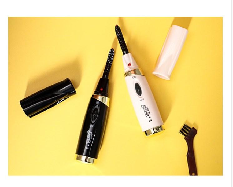 해외직구상품 일본 속눈썹 고데기 전동 눈썹 칼 다듬기 길이 정리, 베터리 추가, 블랙