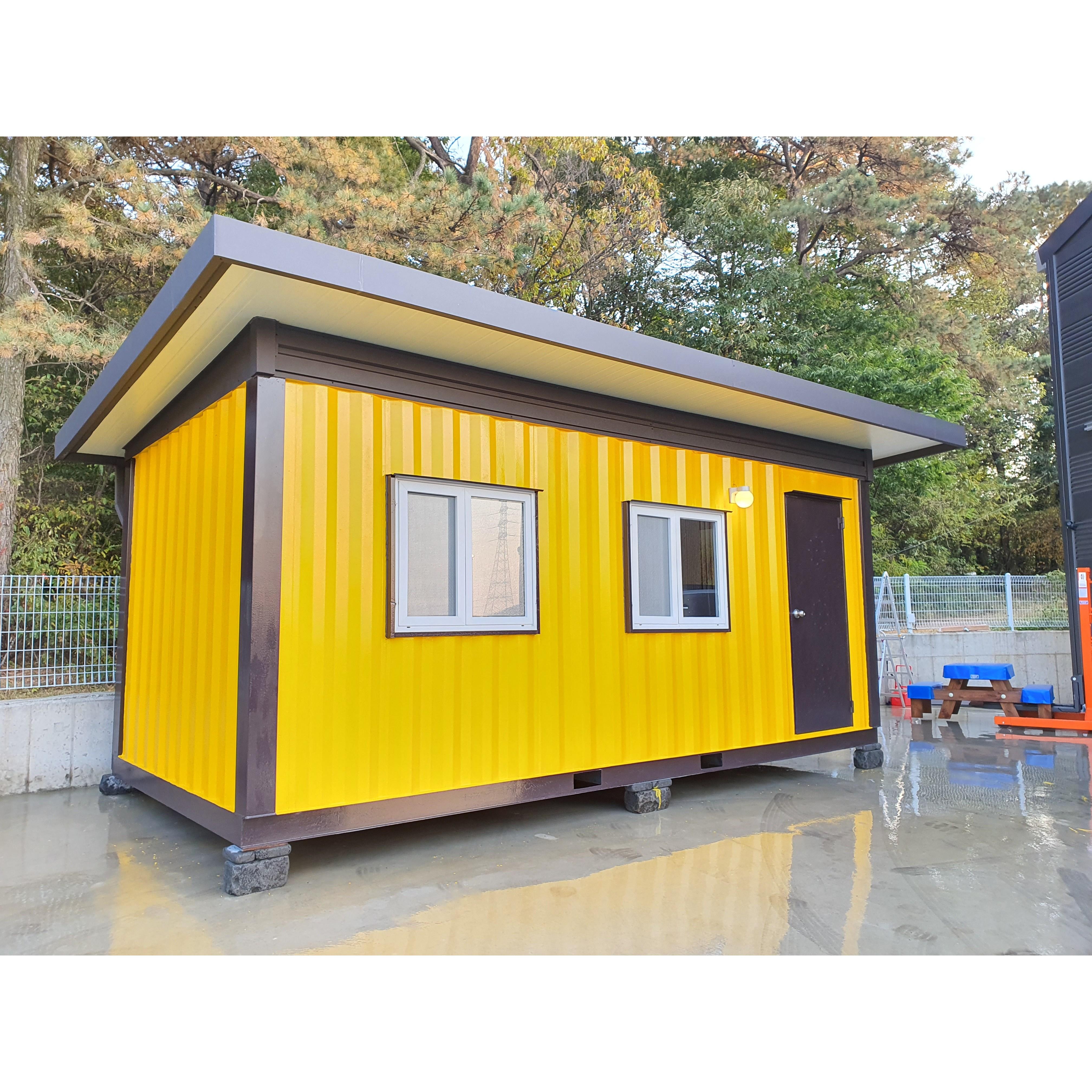 3x6컨테이너 하우스 이동식 농막 주택 사무실 창고 지붕 시공 (지붕만)