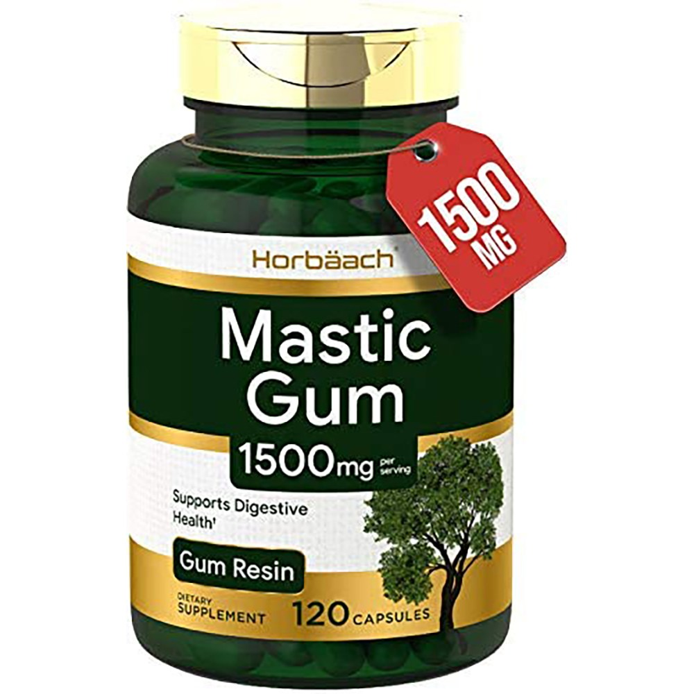 Horbaach 매스틱검 Mastic Gum 500mg 120캡슐 x 1통