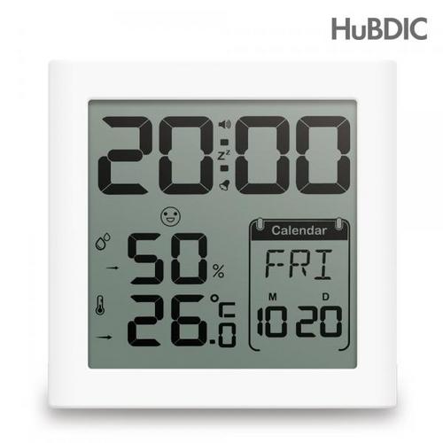 [바보사랑]휴비딕 디지털 시계 온습도계 HT-5 달력, 1개