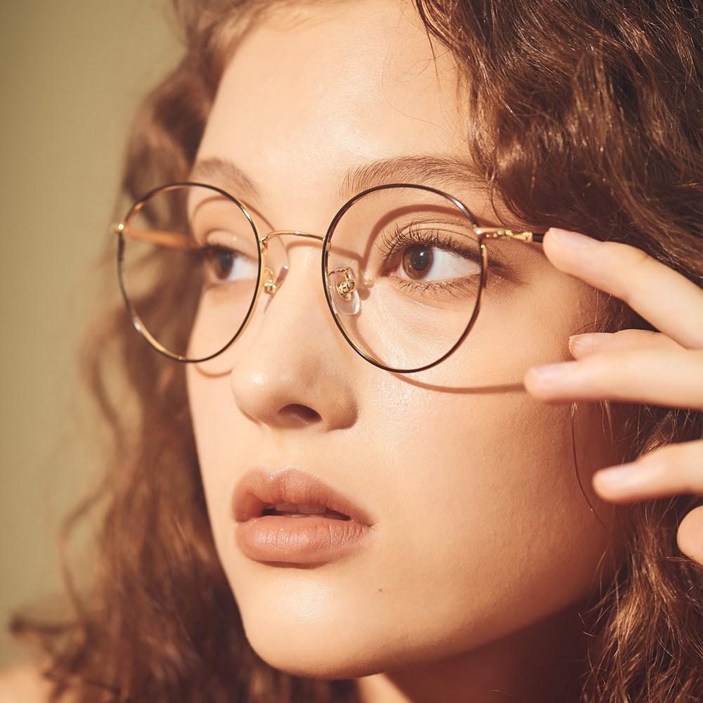 WILLA gold-black 안경테 고르는법 맞춤 둥근