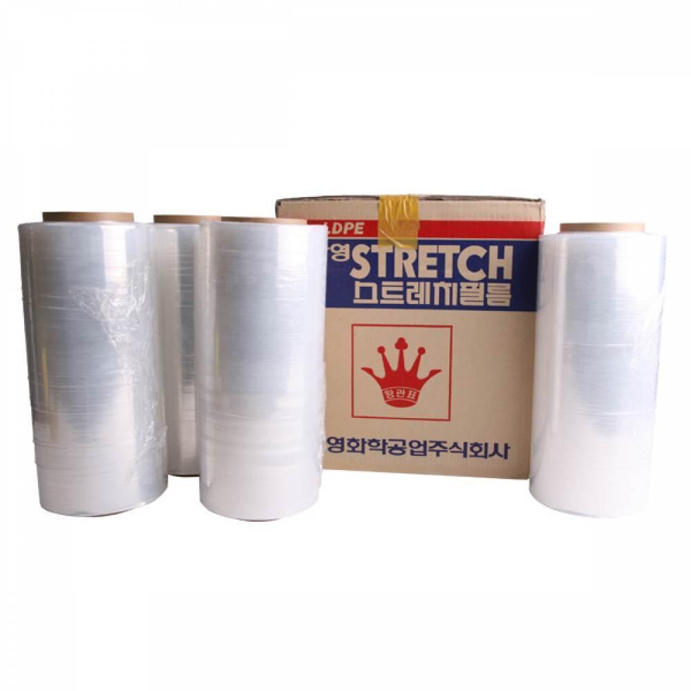 [친절한스텔라샵] 포장용 스트레치 필름 4개입 공업용랩 산업용랩, 기본