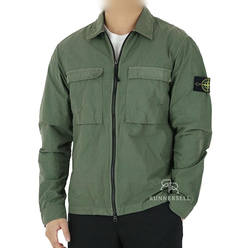 20SS 스톤아일랜드 나슬란 오버셔츠 자켓 721511102 카키