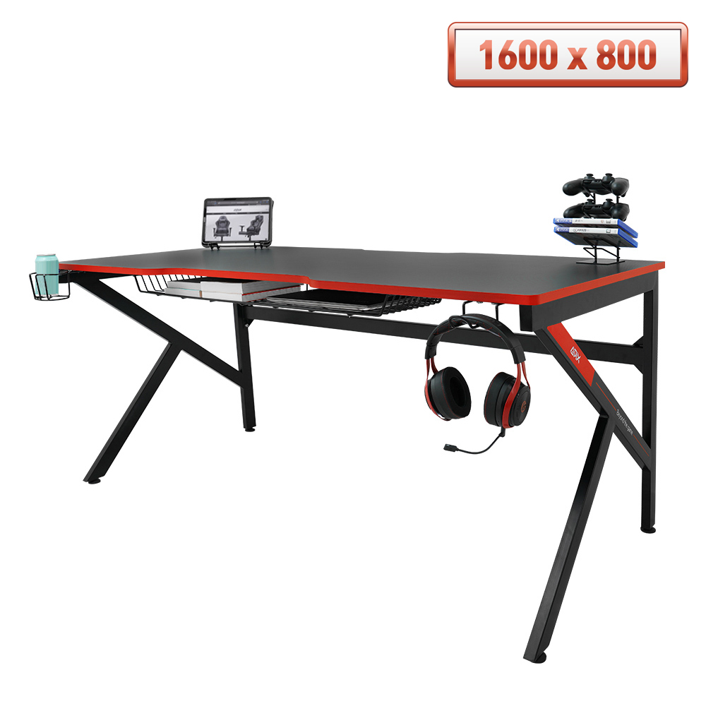 에이픽스 1인용 게이밍 컴퓨터 책상 GD001 1600L 1600x800 스토리지 데스크